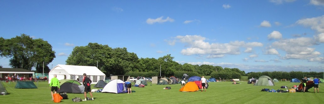 The halfway camp at Hutton Cranswick Sports Fields