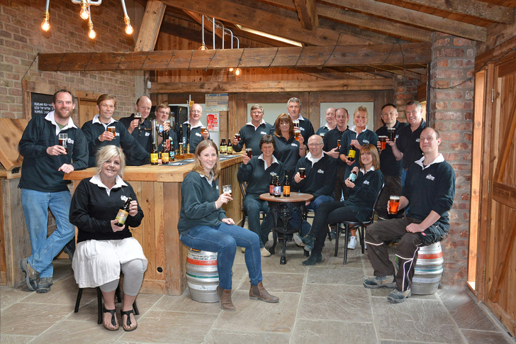The team at Wold Top Brewery