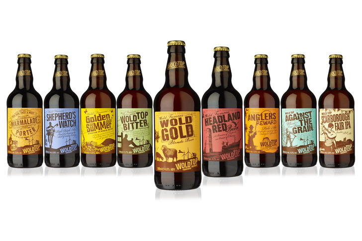 A selection of Wold Top bottled beers