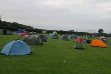 Camping at the halfway is an integral part of the challenge