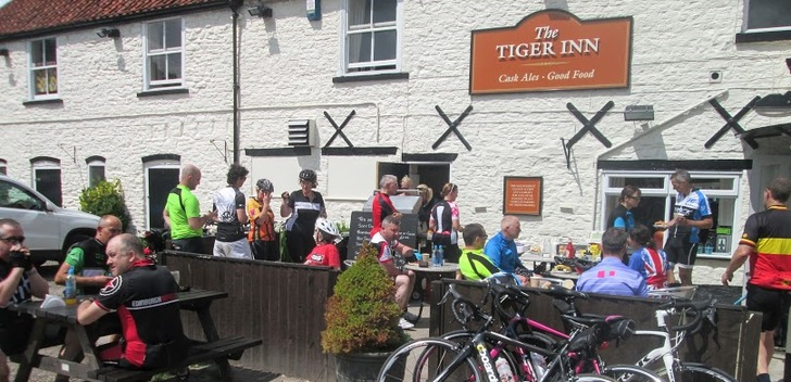 Refershment stop at the Tiger Inn, North Newbold