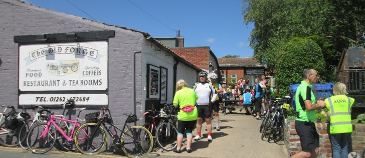 Refreshments at the Old Forge Cafe, Sewerby